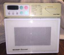 Vintage Sharp Half Pint Microwave Oven Carousel Digital R-1A56 Mini Cube Dorm RV
