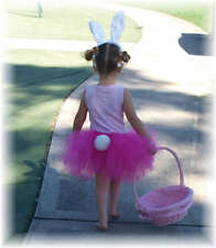 Girls Custom Easter Bunny Dress Hat Ears Parade Tutu