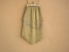 Scarce Vintage Deco 1920s Soldered Mesh Whiting & Davis Gold Tone Purse Bag