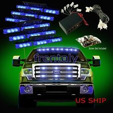 54 LED Car Truck Strobe Emergency Warning Light for Deck Dash Grill Blue & Blue