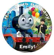 "Thomas The Tank Engine Personalised 7.5"" Cake Topper Edible Wafer Paper"