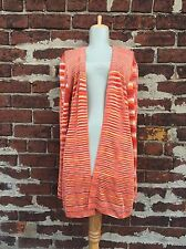 Missoni for Nordstrom IT 46 US 10 Orange Stripe Knit Cardigan Sweater Italy