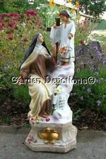 "17"" ST. THERESA & CHILD JESUS ON CLOUDS STATUE Plaster / Chalkware **IMPORTED**"