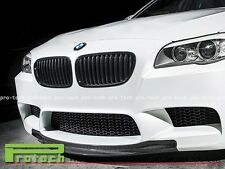 RK Racing Type Carbon Fiber Front Bumper Lip Spoiler For 12-16 BMW F10 M5 Only