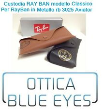 CUSTODIA CASE RayBan 3025 Aviator 3407 3362 Ray Ban OCCHIALI Sunglasses BOX