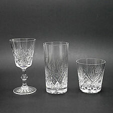 Three Matching Royal Doulton Cut Crystal Glasses - Wine, Whisky & Hiball/Tumbler