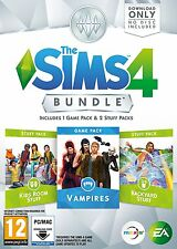 The Sims 4 Bundle Pack 7 (PC DVD) BRAND NEW SEALED KIDS/VAMPIRES/BACKYARD