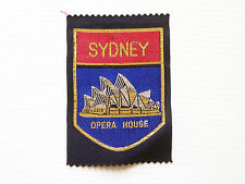 VINTAGE SYDNEY OPERA HOUSE EMBROIDERED SOUVENIR PATCH WOVEN CLOTH SEW-ON BADGE