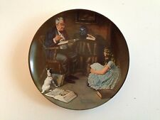 The Storyteller Knowles Eighth 8th Collector Plate 1984 Norman Rockwell Heritage
