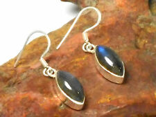 Marquise   LABRADORITE   Sterling  Silver  925  EARRINGS  -   Gift  Boxed!