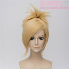 Mercy Golden Cosplay Wig With High Ponytail + Wig Cap Free Shipping