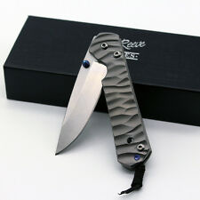 B003116Small CNC Titanium OemChris Reeve Sebenza Handle Pocket Folding EDC Knife