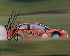 Henning Solberg Hand Signed 10x8 Photo Ford Focus Rally 2.