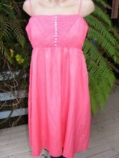 NEW SUITE 62 Coral Summery DRESS Size 14 High Bodice TRENDY SUMMER COLOUR