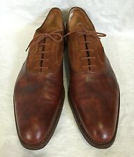 John Lobb Medbourne Shoes Oxfords Lace Up Dress Sz 12 E UK 13 US Suede Leather