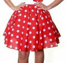 "26"" Long Ladies Women Polka Dot RockNRoll Grease Poodle Skirt"