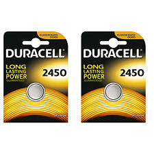 2 Pc Duracell CR2450 ECR2450 CR 2450 3V Coin Cell Lithium Button Battery