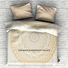 Indian Mandala Queen Size Duvet Cover Doona Blanket Set Bohemian Hippie Throw