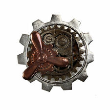 Steamworks Large Gear Propellor Pin Steampunk Victorian Jewelry Antiqued Prop el