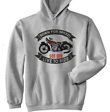 BSA 500 OHV SLOPER - GREY HOODIE - ALL SIZES IN STOCK