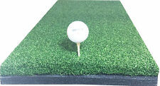 "12"" x 24"" Golf Chipping Driving Range Practice Mat - Holds A Wooden Tee"