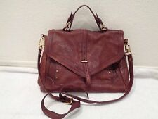 TORY BURCH Burgundy Leather 797 Satchel Crossbody Bag Purse