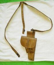 Brelage + Holster en cuir fauve pour PA mac 50 modèle 1948- Collection Militaria