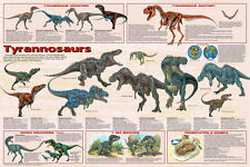 "Tyrannosaurus Dinosaurs POSTER ""T-REX "" Educational Wall Chart NEW Licensed"