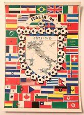 Cartolina Italia 90 - C'Ero Anch'Io Stemma Italia Stivale Luoghi Bandiere