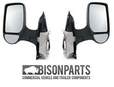 +Ford Transit Mk6 Chassis Cab 2000-2006 Door Wing Mirror Manual Black TRA347/348