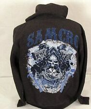 Blowout! Authentic Sons Of Anarchy V-Twin Reaper Samcro Soa Hoodie Sweat Shirt S