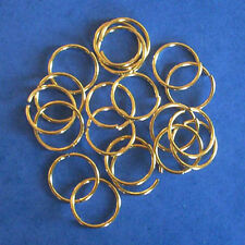 100 gold plated 18mm jump rings, findings for jewellery making crafts