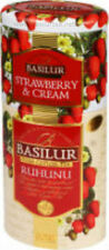 Basilur Tea Strawberry/Ruhuna -Two Layer Metal Caddy -Loose Black Tea 125 g
