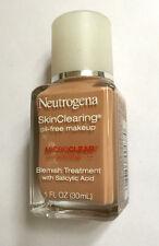 NEW - Neutrogena -Skinclearing oil-free makeup - 80 Medium Beige -1 OZ/30 ML