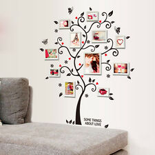 Chic Black Photo Frame Tree Flower Mural Wall Sticker Home Decor Room Decals