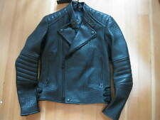 NWT $3095 BELSTAFF MEDWAY LUXURY BLACK LEATHER BIKER MOTO JACKET MEN'S 54 /US 44