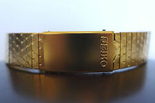 NOS SEIKO BASE METAL VINTAGE DEPLOYMENT CLASP 18mm WATCH BAND GOLD TONE 80'SDOTS