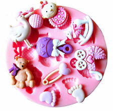 Baby Shower Silicone Fondant Cake Mold Chocolate Baking Sugarcraft Decor (226)