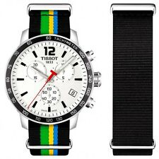 T0954171703702 Tissot Quickster Limited Edition Baku 2015 Mens Watch Nato Strap
