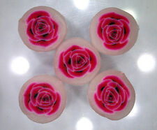 Handmade polymer clay beads – Pink Rose disc