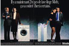 PUBLICITE  1987   MIELE  lave linge machine à laver (2 pages)
