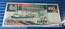 Singapore Ship Series $50 Note Dollar Currency (Price Per Piece Random Numbers)