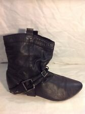 Finish The Look Black Ankle Leather Boots Size 7