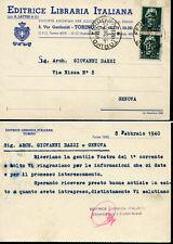 CARTOLINA VIAGGIATA GIOVANNI DAZZI GENOVA 1940 CASE D'OGGI AUTOGRAFO