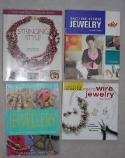 LOT of 4 BEADED JEWELRY MAKING BOOKS Wire STRINGING Beading METAL Wood CLAY