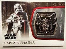 Topps Star Wars The Force Awakens: Silver Medallion M-42 Captain Phasma #53/199