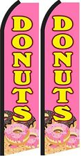 Donuts  Standard Size  Swooper Flag  sign pk of 2