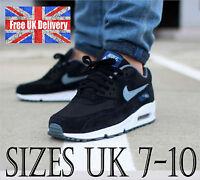 Nike AIR MAX 90 ESSENTIAL Men's Trainers in Black/Grey UK 7-10 / UK SELLER