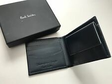 Paul Smith Mens BLACK 8 CC Bifold Wallet with Coin Pouch  - Boxed