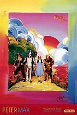 PETER MAX  YELLOW BRICK ROAD- 24 X 36 FACSIMILE SIGNED-VERY COLORFUL